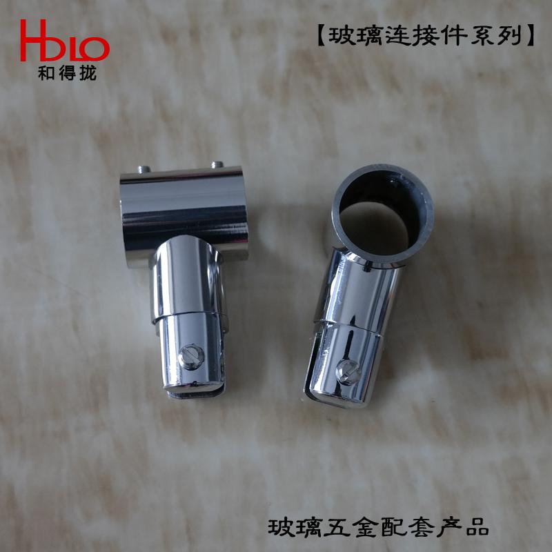 Душевая труба из нержавеющей стали с круглой трубкой для зажимных стеклянных стержневых соединителей Разъем T-образного разъема прямо через фиксированный хомут