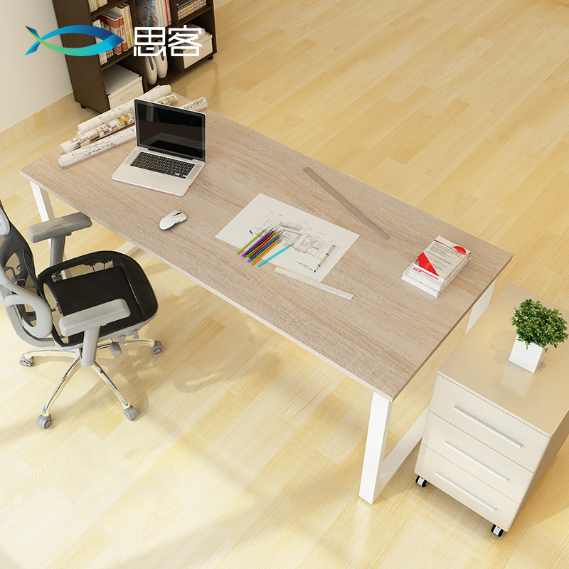 USD Think Guest Minimalist Computer Desk Desktop Double - Desk with meeting table