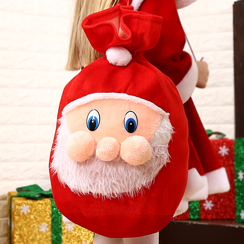 gold velvet christmas gift bag large santa claus backpack gift bag christmas clothes childrens decoration