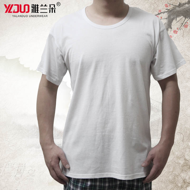10595739b3f0 Middle-aged men s T-shirt loose short-sleeved cotton breathable large size  vest old jersey white sleeveless thin section