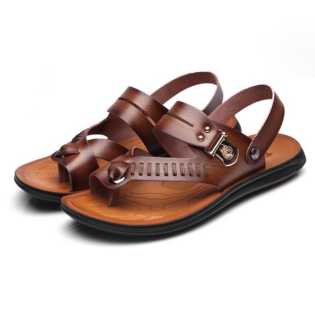 2016夏季真皮镂空凉鞋35 36 37小码洞洞鞋凉拖鞋45大码休闲鞋男鞋