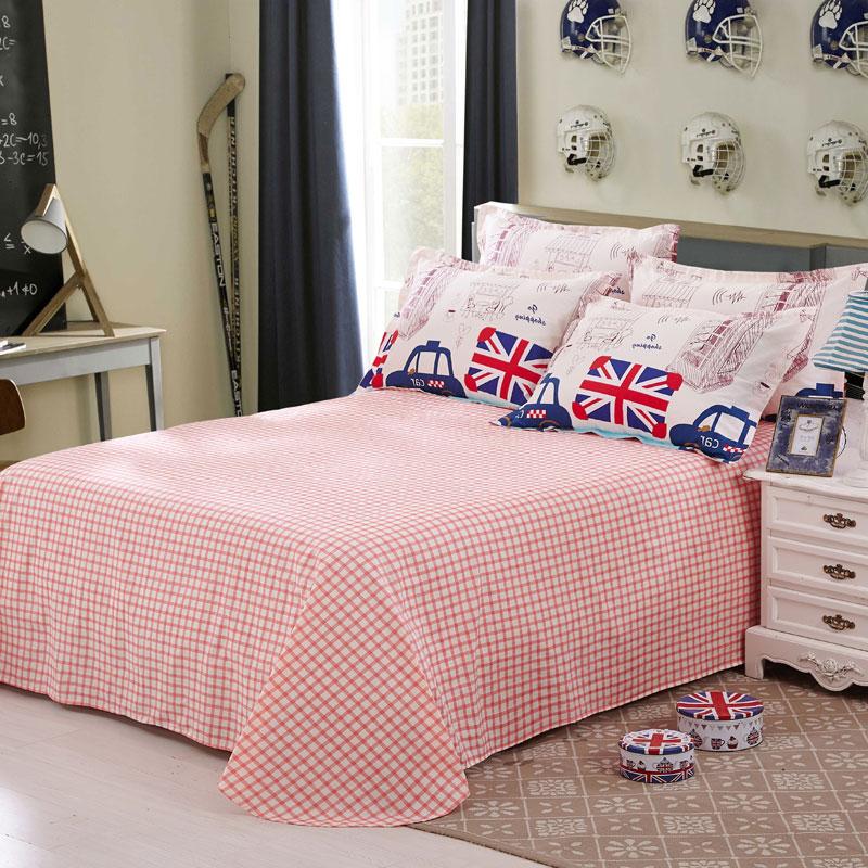爱莱欧全棉床单单件纯棉床笠1.5m单人床单 双人1.8m床罩