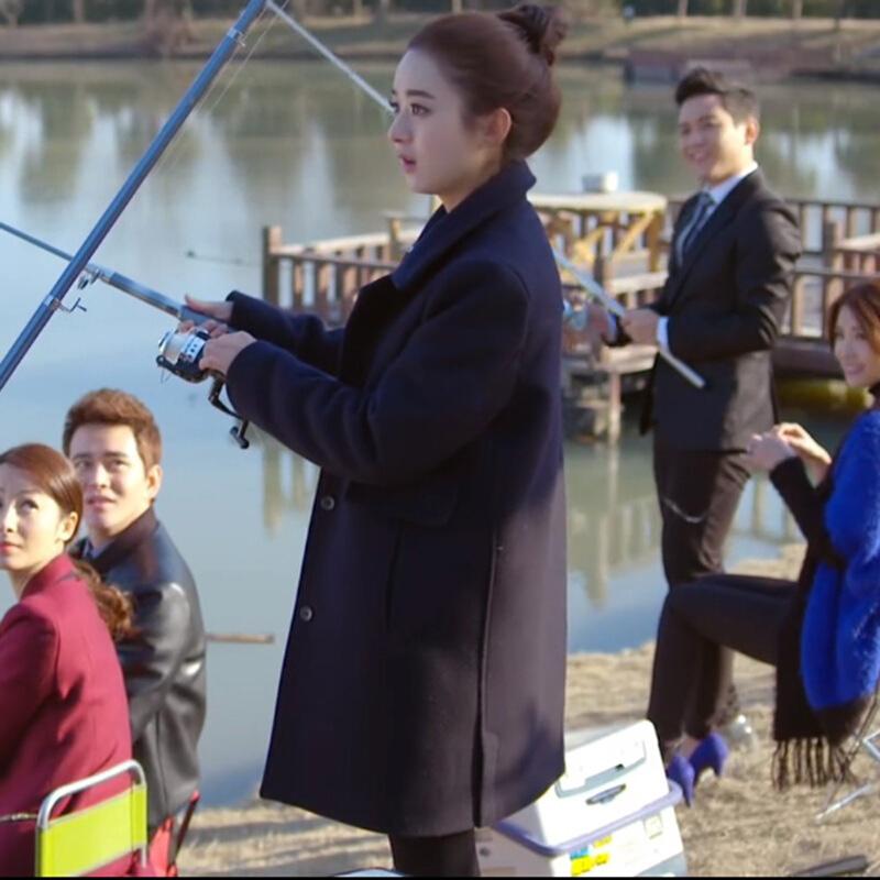 Xue Sơn Sơn đi kèm với cùng một đoạn 2018 mới của phụ nữ Hàn Quốc phiên bản của phần dài của mùa xuân và mùa thu chống mùa len áo len áo