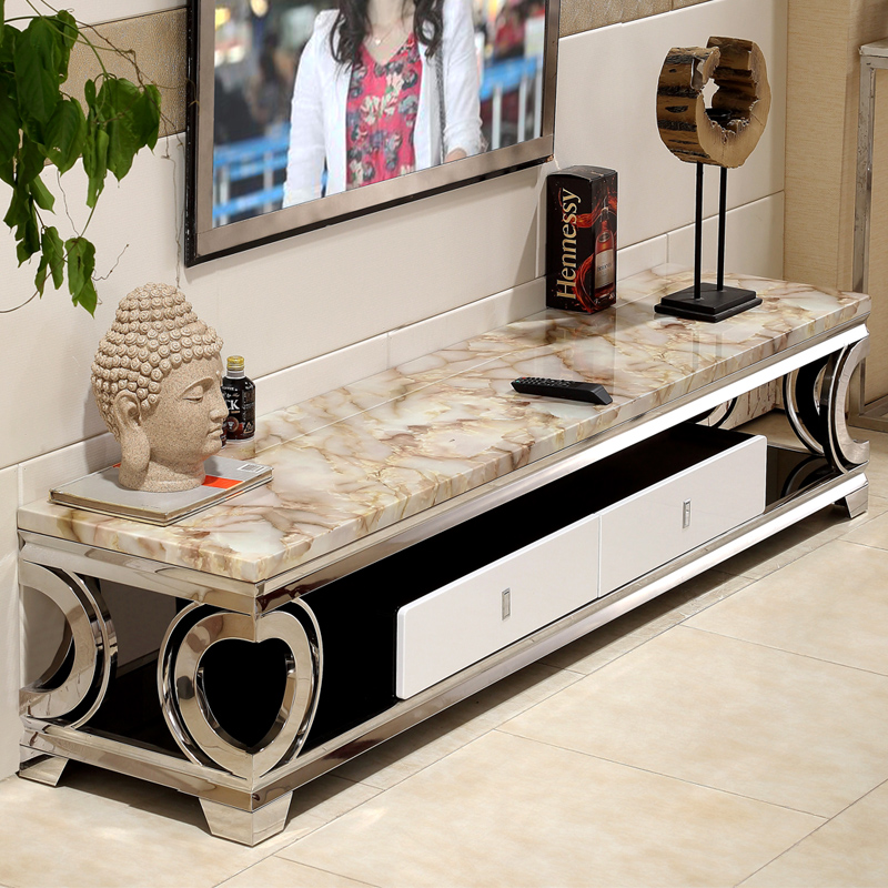 Usd 37420 Stainless Steel Tv Cabinet Simple Modern Cabinet Marble
