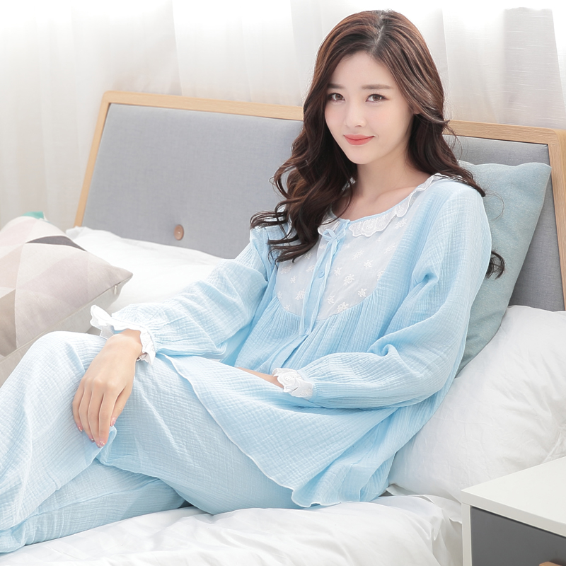 SGD106.08] Cotton month spring/summer clothing gauze clothing ...