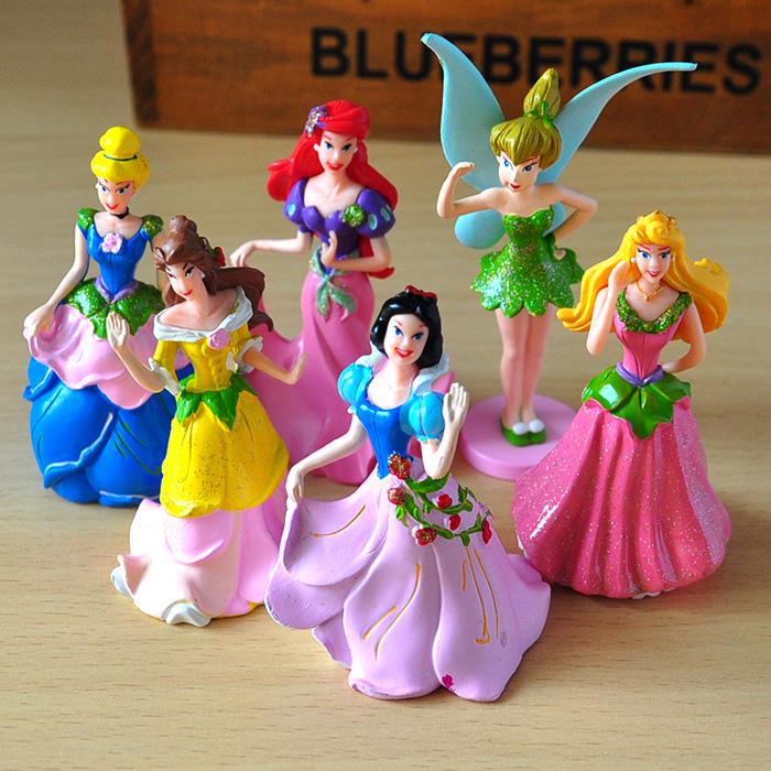 Куклы/ украшения/детали Значение 6 является спектр Disney Анимация Волшебная фея Принцесса Золушка снег белая кукла Кукла украшения