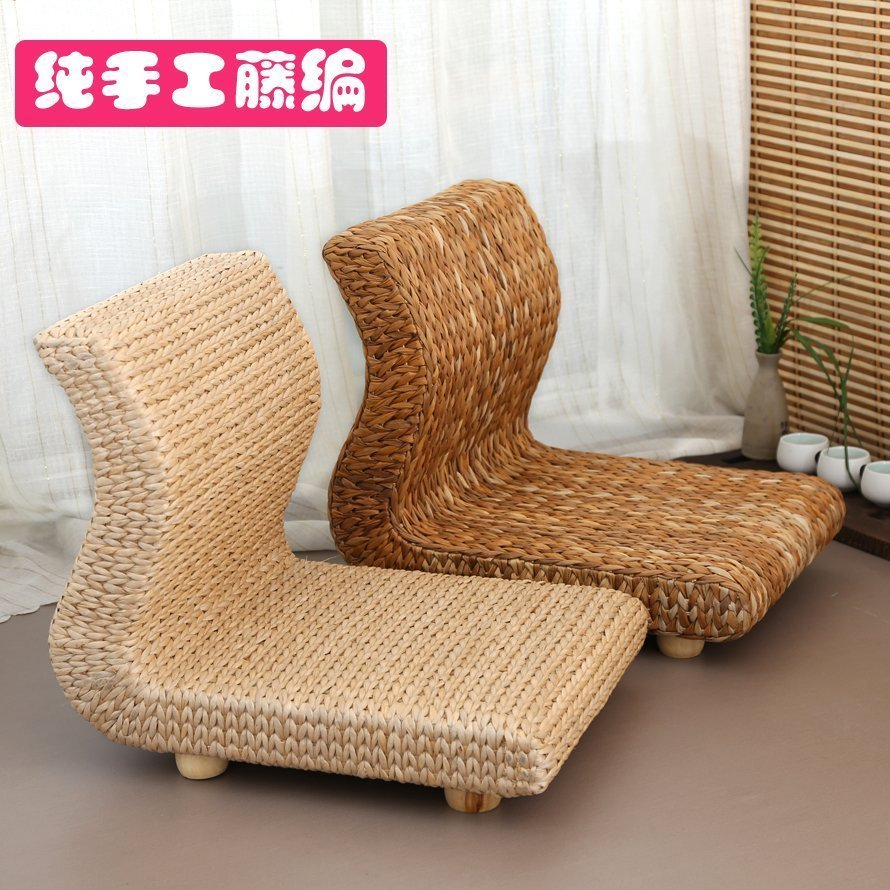 USD 40.70] Grass rattan tatami chair and room chair bed bay window ...