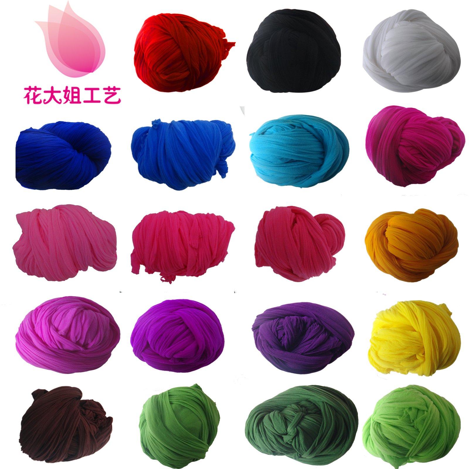 丝网花材料批发 丝袜花 DIY手工制作 单色丝网常用1-44号