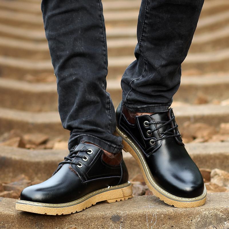 高夫印象男款秋季商务大头皮鞋男真皮时尚潮流大码英伦风正装男鞋