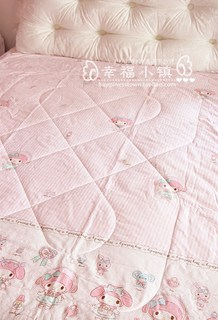 Pink melody little princess spring and summer thin air conditioning quilt, soft cotton quilt