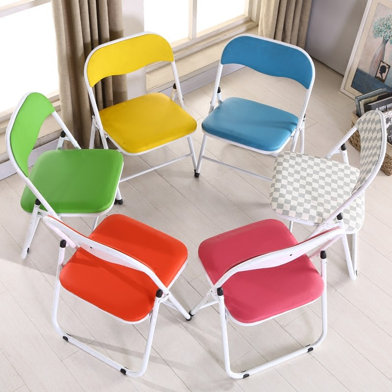Simple Home Sitting height 35/40 Folding chair Adult Low chair backrest small chair stool old children student writing