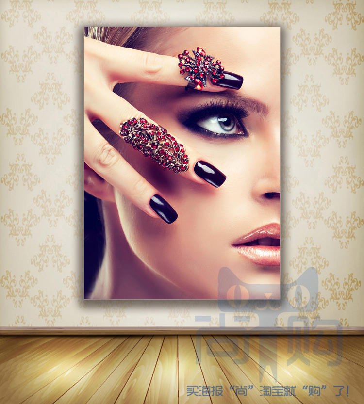 Hd Canvas Prints Picture Spa Nail Salon Store Decor Wall: HD Nail Shop Poster Beauty Nail Makeup Picture Make-up