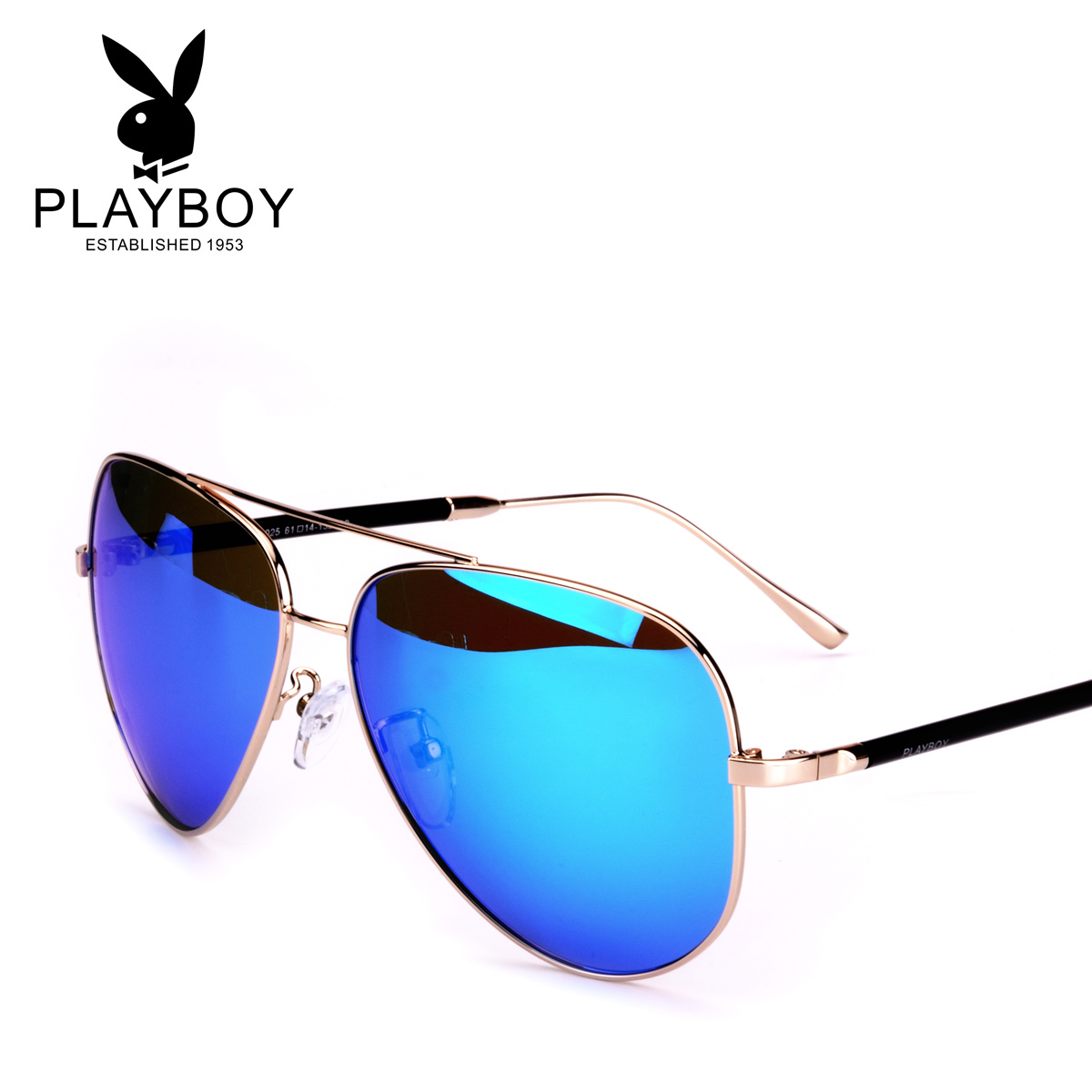 258acc0aa Playboy sunglasses male color film sunglasses female New eye polarized frog mirror  driving mirror PB21025