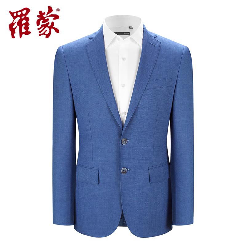 Luo Meng nhỏ phù hợp với nam giới mùa thu tinh khiết len kinh doanh bình thường Mỏng đơn Tây người đàn ông Anh nhỏ phù hợp với áo khoác mỏng