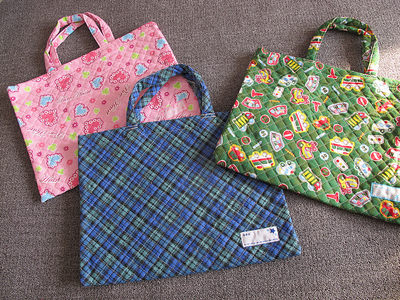 Out of Japan Quilted Children's Tote Bag, Student Tutoring Bag, Kindergarten Accepted Into Tote Bag, Hand Carry Art Boys And Girls