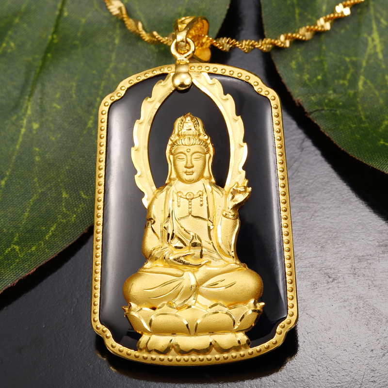 Hot Sale New Arrival Pure 24K Yellow Gold /& Natural Jade Lucky 福 Peach Pendant