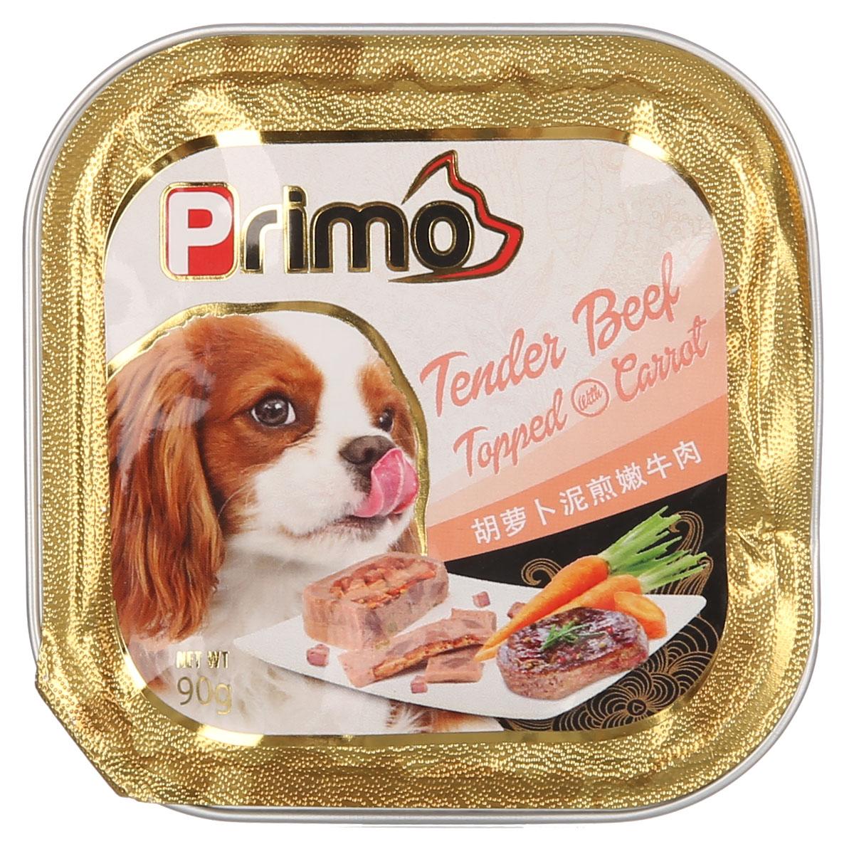 波奇网 宠物狗罐头Primo主厨精致狗罐系列-青豆焗嫩鸡90克狗零食