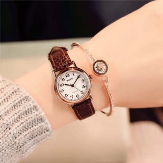 Cute fashion leather belt table waterproof ladies watch girl high school students Korean version of simple trend ULZZANG