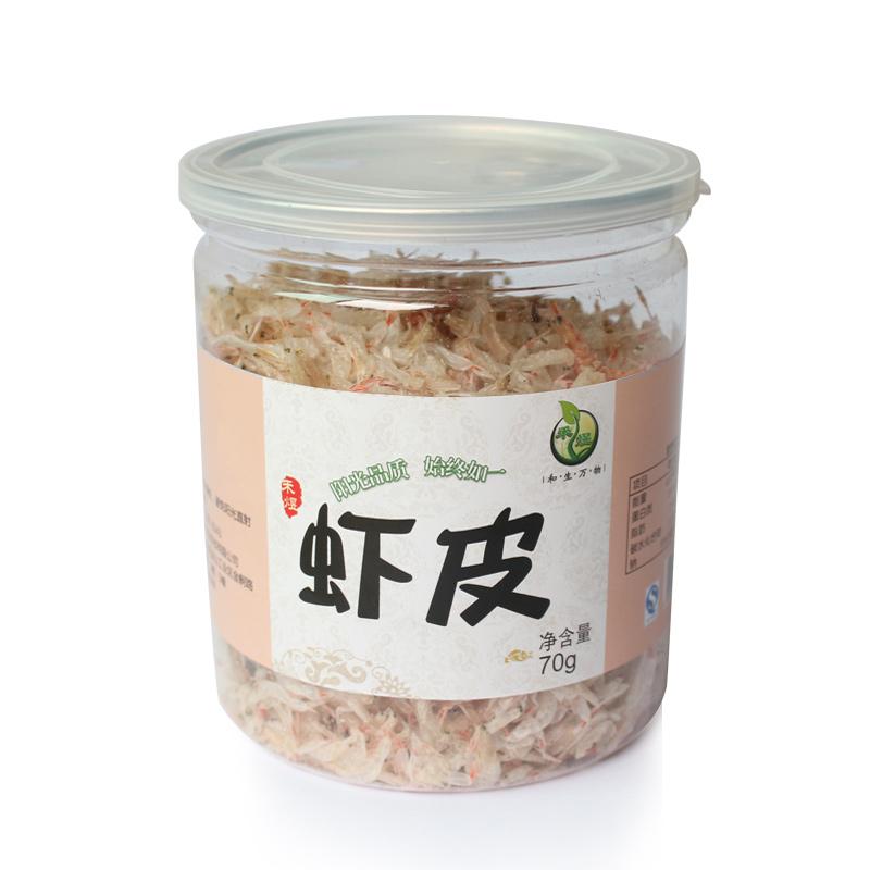 【天猫超市】禾煜 罐装虾皮干货70g海产品海鲜无盐淡干虾皮小虾米
