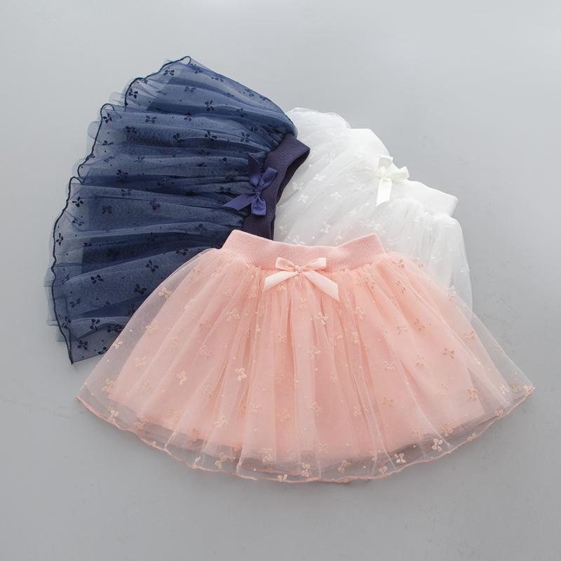 Детское демисезонный Летнее платье детские на девочку корейская  версия Меш юбка юбка сплошной цвет pettiskirt детские Девочка короткая юбка