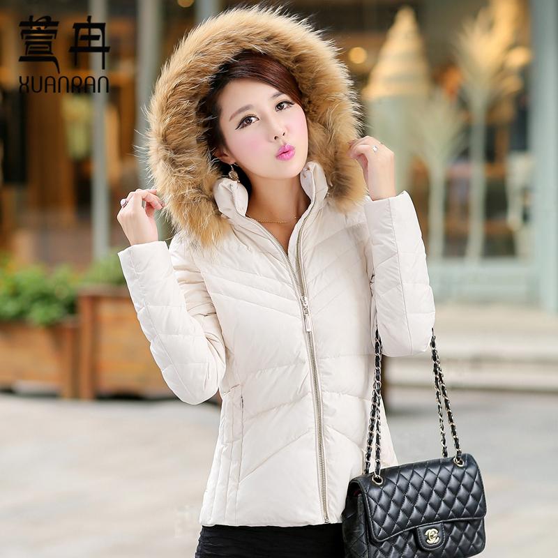 2015冬装新款女装短款连帽羽绒棉衣加厚修身韩版时尚外套包邮8969