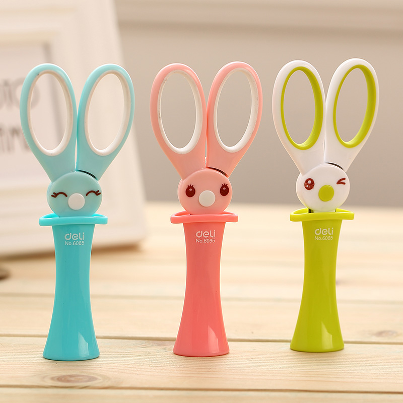 Office & School Supplies Shop For Cheap New Cute Magic Rabbit Scissors Child Cartoon Style Scissors Shezthed Handmade Scissors