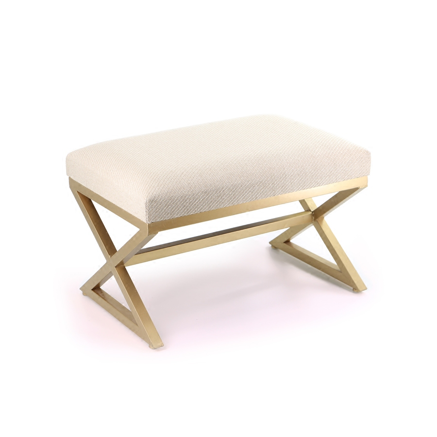 European Style Neoclassical Cloth Bench Fashion Living Room Hotel Bed Stool  American Style Shoe