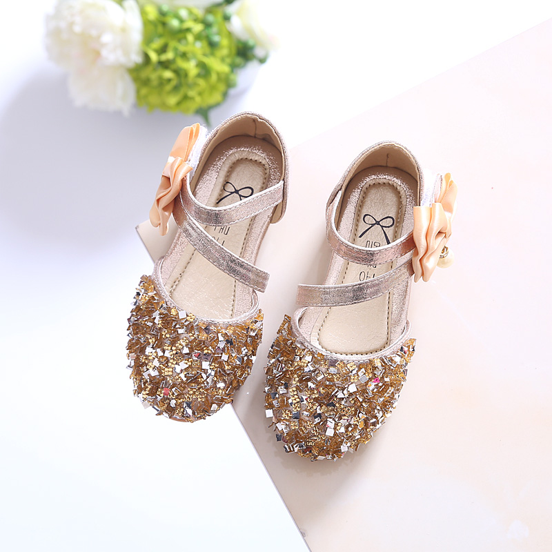 b63593970 Girls sandals princess shoes children s shoes 2019 spring and summer new  Korean sequin girls shoes baby shoes half sandals