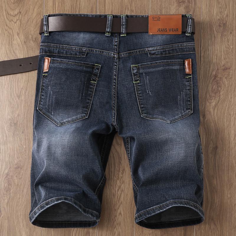 夏季薄款马裤修身牛仔短裤黑色男大码5五分裤中裤男士牛仔裤潮流