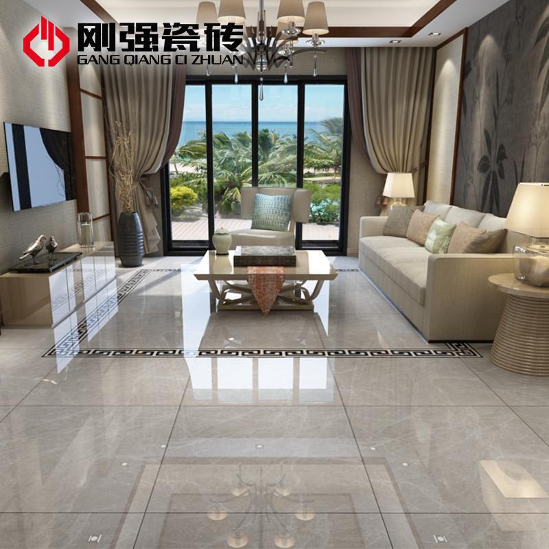 USD 34.48] Rigid tile living room floor tiles full cast glazed floor ...