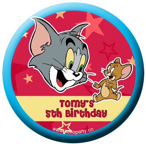 New birthday souvenir gift party magnet stickers refrigerator stickers mini mirror cat and mouse Tom / Jerry