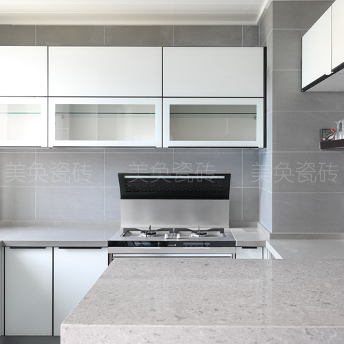 Light Gray Modern Nordic Style Kitchen Tile Floor Wall Import Export All Through Tiles