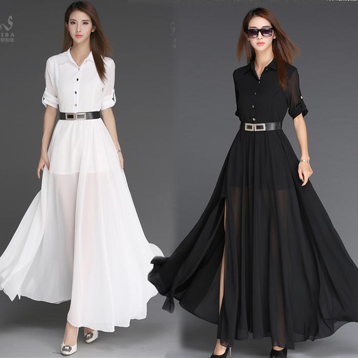 2016夏季新款女装短袖裙子修身拼接OL职业包臀白色连衣裙春秋正装