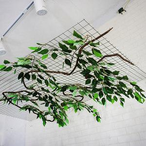 仿真榕树叶子 吊顶装饰榕树叶仿真植物假叶子屋顶树藤造型叶子
