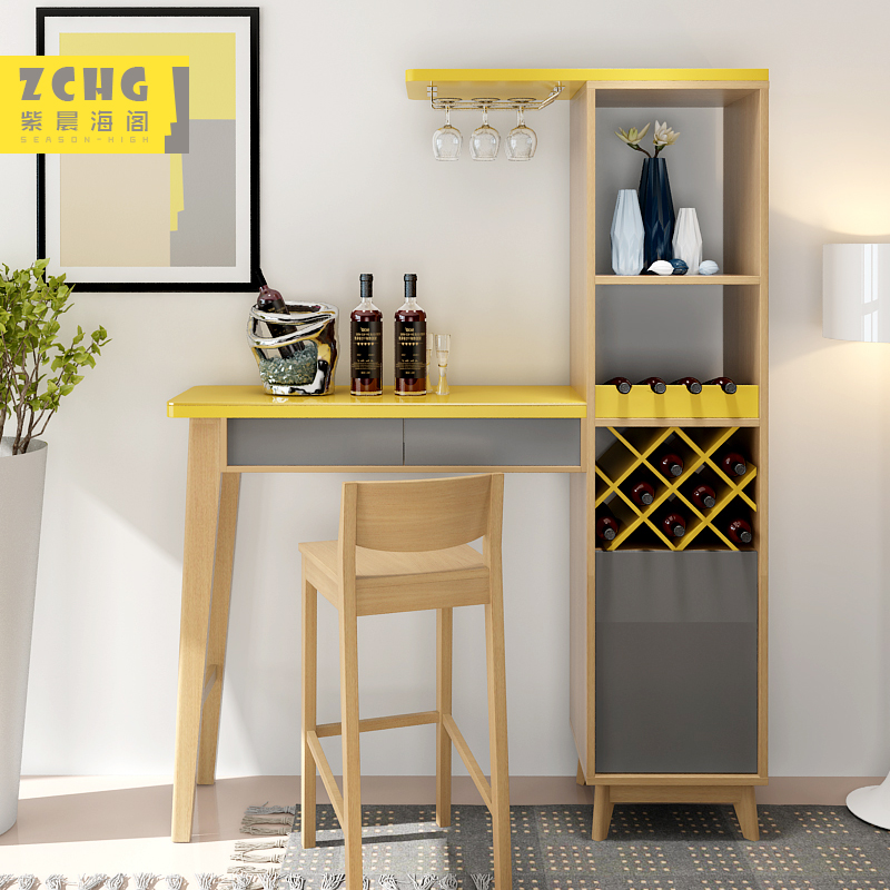 Nordic Color Personality Furniture Partition Living Room Cabinet