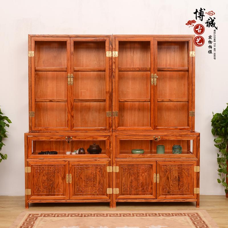 Офисная мебель Бутик ювелирные изделия счетчик, дисплей ювелирных изделий шкаф шкаф твердой древесины антикварные витрины прилавки Нефритовый чай кабинет, коммерческую витрину