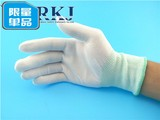 Dust-free PU anti-static dry dust white glove nylon carbon fiber anti-static protective gloves