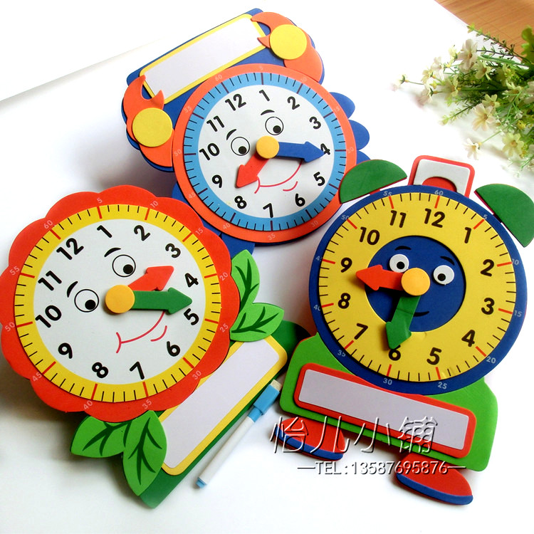 Kindergarten Classroom Wall Decoration Arrangement Supplies Foam Three Dimensional Understanding Of The Clock