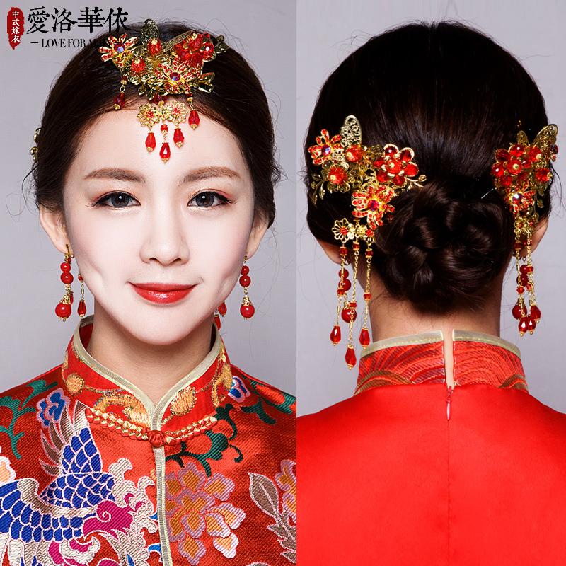 Любовь Ло новый Головной убор мать костюм комплект китайский стиль свадебное Аксессуары для волос, дракон и феникс, ювелирное шоу, wo, феникс корона свадебное матч