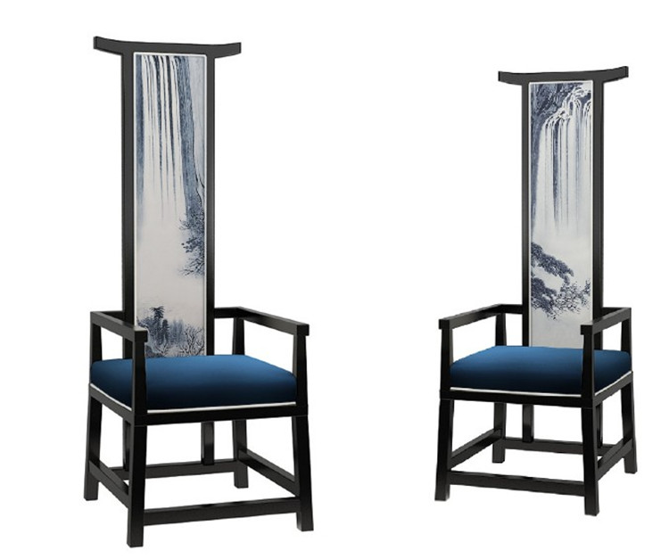 New Chinese High Back Chair Old Time Old Style Vintage Office Chair Modern