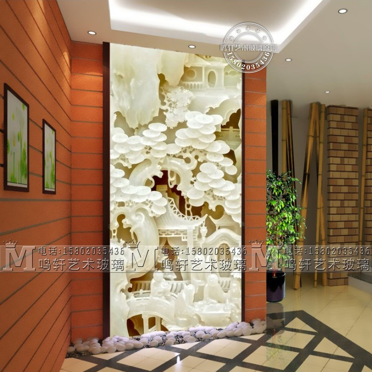Usd 20201 Art Glass Xuan Guan Partition M15507 Bai Yuting 3d