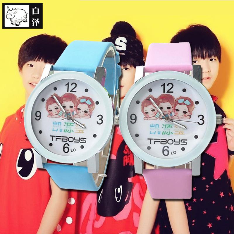 Bai Ze TFBOYS xem phim và truyền hình sao xung quanh đồng hồ điện tử nam và nữ sinh viên thời trang sáng xem con trỏ xem