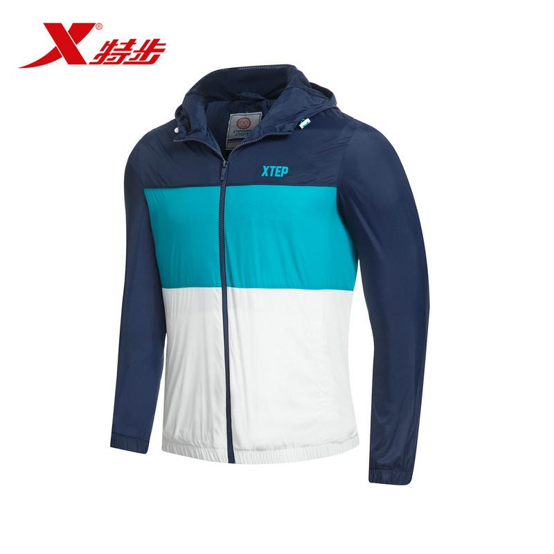 Xtep áo khoác nam áo khoác thể thao thể thao thoải mái xu hướng windproof nam áo khoác thoải mái áo sơ mi chính thức trực tiếp