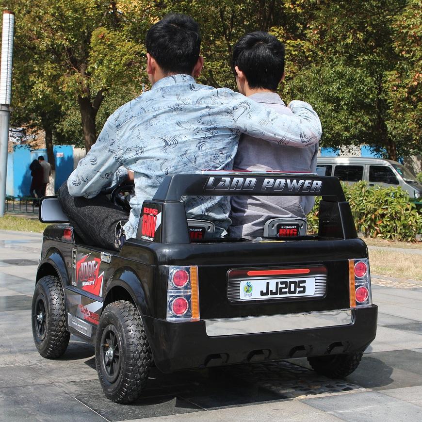 贝瑞佳超大双座儿童电动车路虎四轮遥控双驱双人越野汽车童车可坐