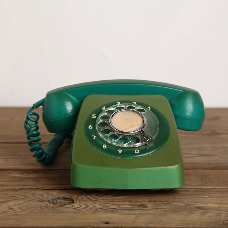 Used old Telephone green fade vintage dial old fashioned Telephone vintage  retro Vintage Collection