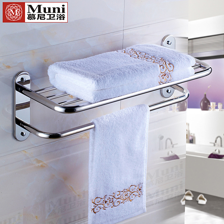 Towel Rack 304 Stainless Steel Single And Double Pole Bathroom Clothes Hotel