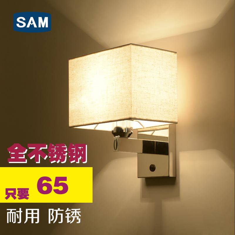 床头酒店led定制客房现代简约卧室壁灯灯带阅读不锈钢工程开关灯