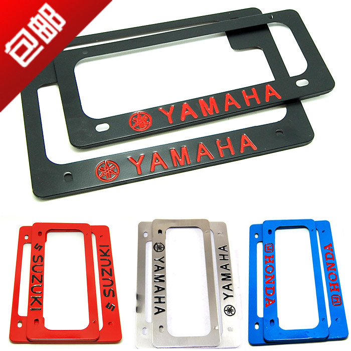 USD 7.24] Motorcycle license plate frame license plate frame Yamaha ...