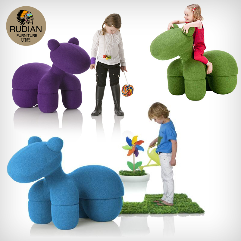 Pony Chair Pony Chair Creative Chair Childrenu0027s Lounge Chair Art  Personality Designer Furniture Puppy Chair