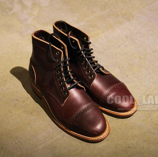 Formal agents spot American-made OAK STREET BOOTMAKERS ' HORWEEN cherry red